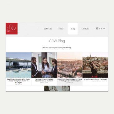 GPW, Consultora de Investimentos Imobiliários, Blog, Content Marketing, Turismo, Webtexto